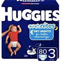 Huggies Overnites Nighttime Diapers, Size 3, 80 Ct (Packaging May Vary)