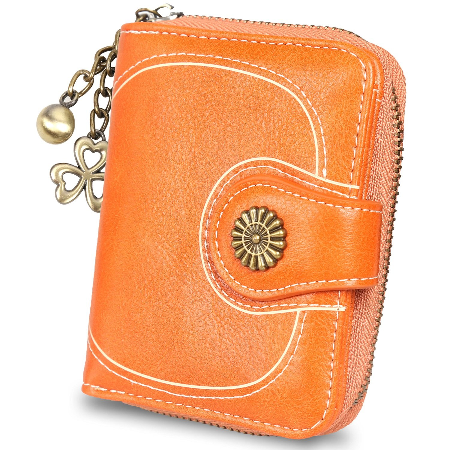 RFID Small Wallet for Women Card Holder Leather Wallets Ladies Purse ID Window