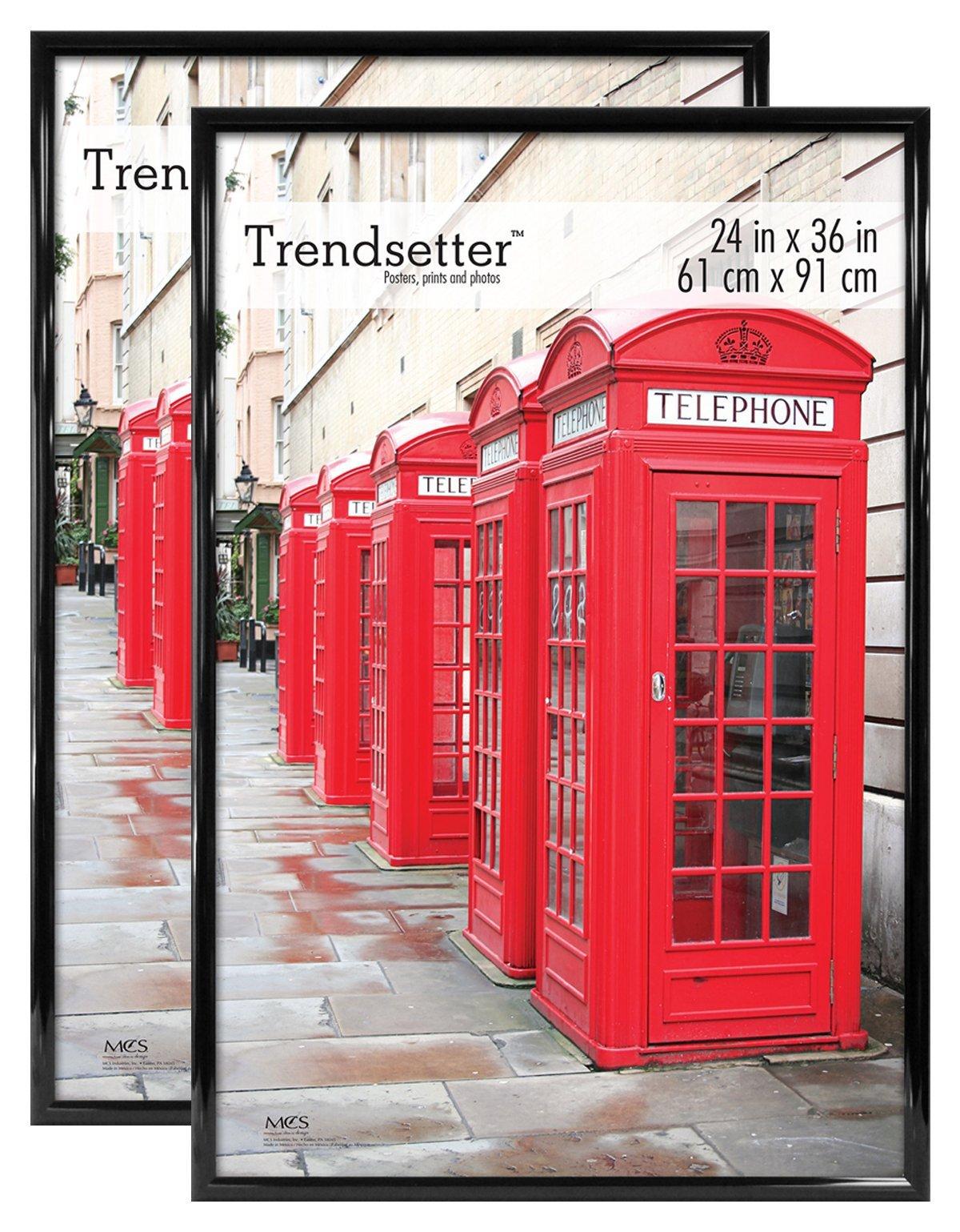 MCS Trendsetter 24x36 Inch Poster Frames (2pk), Black (65680) by MCS