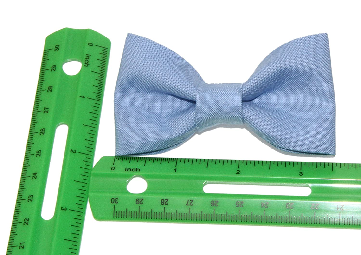 Toddler Boy 4T 5T Periwinkle Blue Clip On Cotton Bow Tie