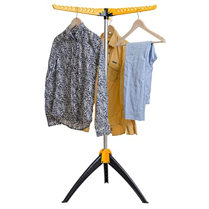 32d9a09e39d Amazon.com  Artmoon Elm Collapsible Clothes Drying Rack Foldable Tripod Hanger  Stand Portable Indoor Outdoor Durable Constuction Up to 63 hangers  Home    ...