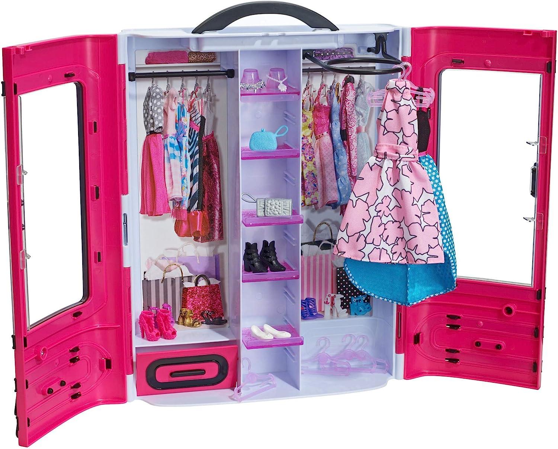 Barbie DMT57 Fab Fashion Closet Guardaroba alla Moda con Abiti e Accessori, 3 Anni+, Multicolore, DMT57