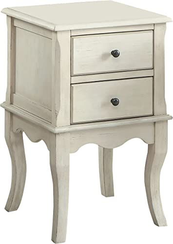 Furniture of America Junie Side Table, Antique White