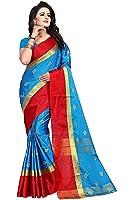 Jashvi Creation Women's Cotton Silk Partywear New Collection Saree With Blouse Piece (party wear,wedding wear,regular wear)