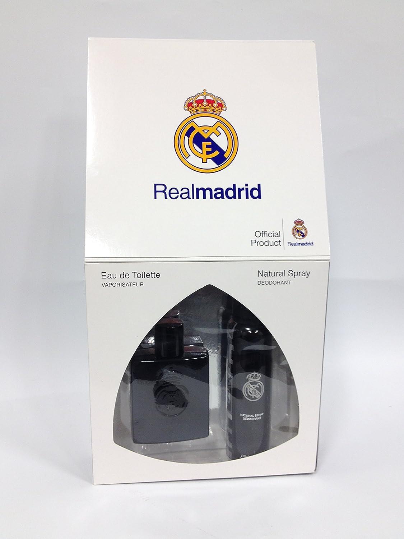 Amazon.com : Real Madrid Set Eau De Toilette 3.4oz Spray Deodorant 4.2oz Black : Beauty