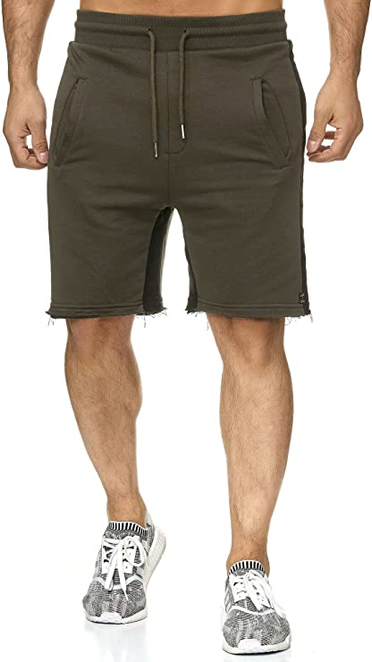 TALLA XXL. Redbridge Pantalones Cortos Deportivos Básicos con Rayas Laterales para Hombre