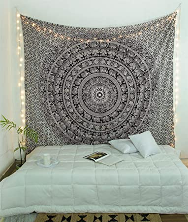 Amazon Com Popular Handicrafts Black And White Hippie Tapestries