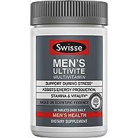 Swisse Premium Ultivite Daily Multivitamin for Men   Energy & Stress Support, Rich in Antioxidant & Minerals   Vitamin A…