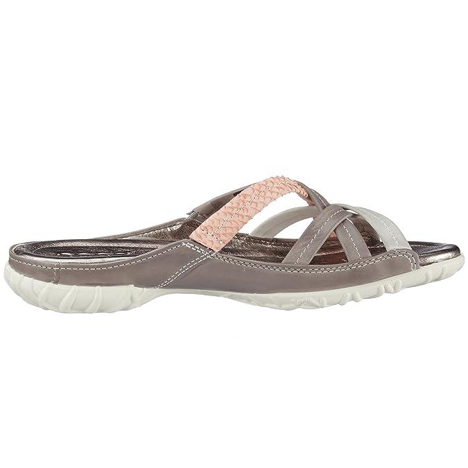 ECCO Women's Groove Sandal Open Toe Sandals Grey Size: 3.5