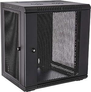 V7 RMWC12UV450-1N Rack Mount Wall Cabinet Enclosure 12U Vented,Black