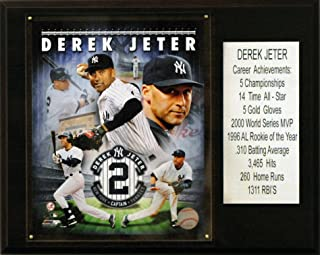 product image for MLB Derek Jeter New York Yankees Career Stat Plaque, Brown, 12 x 15-Inch