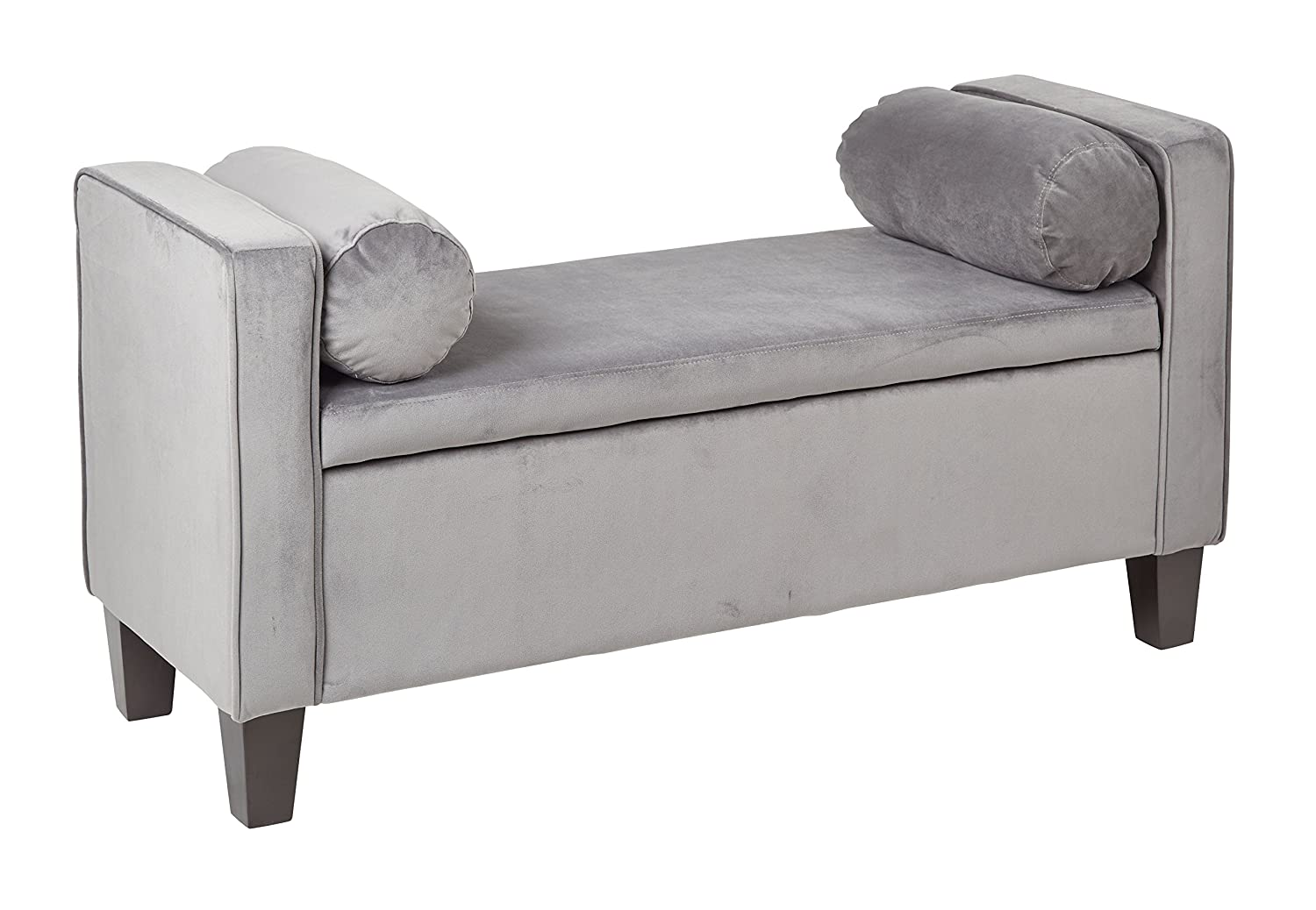 larger view and click image storage views more bench to ottoman traditional fabric large grey upholstered mouse