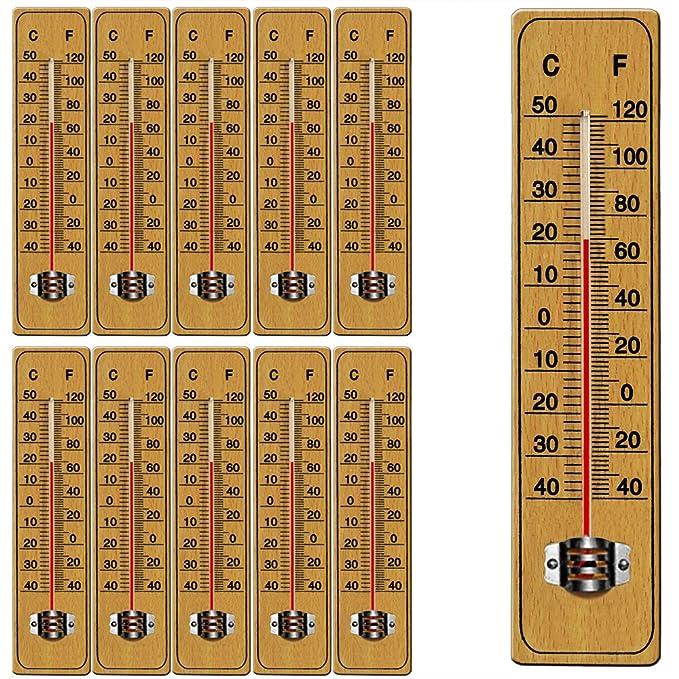 2 x Zimmerthermometer Zimmer-Thermometer Holz 15 cm von TFA Dostmann
