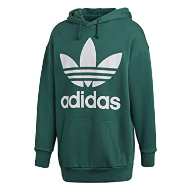 durable in use new season outlet sale adidas Originals Mens Men's Trefoil Oversized Hoodie Hooded Sweatshirt