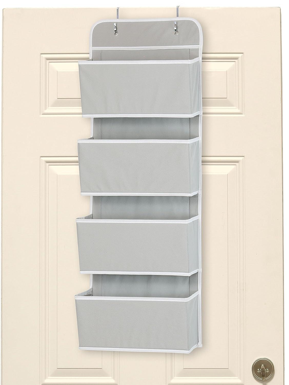 SimpleHouseware 4 Pocket Over the Door Wall Mount Hanging Organizer, Beige Simple Houseware BO-015-1