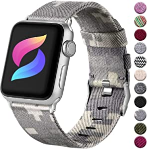 Haveda Fabric Compatible for Apple Watch Series 6 Series 5/4 40mm Band, Soft Woven Canvas band for Apple watch SE, iwatch bands 40mm womens, Sport cloth dressy for Apple Watch 38mm Series 3 2/1 (Camo)