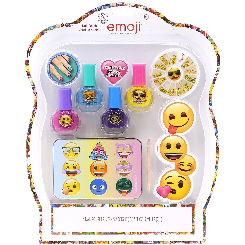 Amazon.com : TownleyGirl Emoji Shimmery, Shiny Nail Polish Kit, with ...