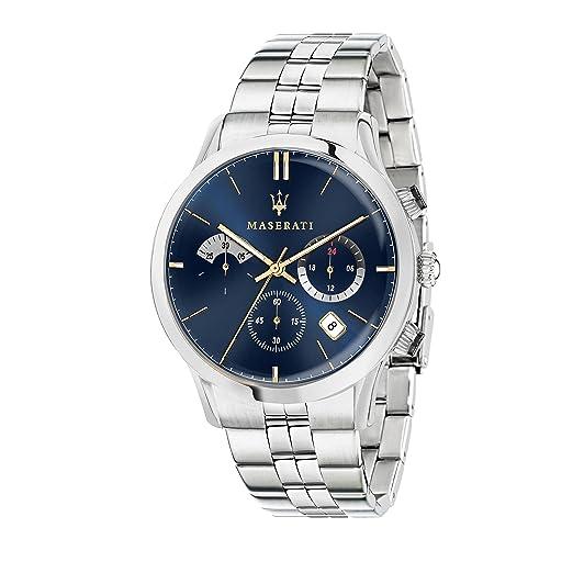 MASERATI Reloj Cronógrafo para Hombre de Cuarzo con Correa en Acero Inoxidable R8873633001: Amazon.es: Relojes