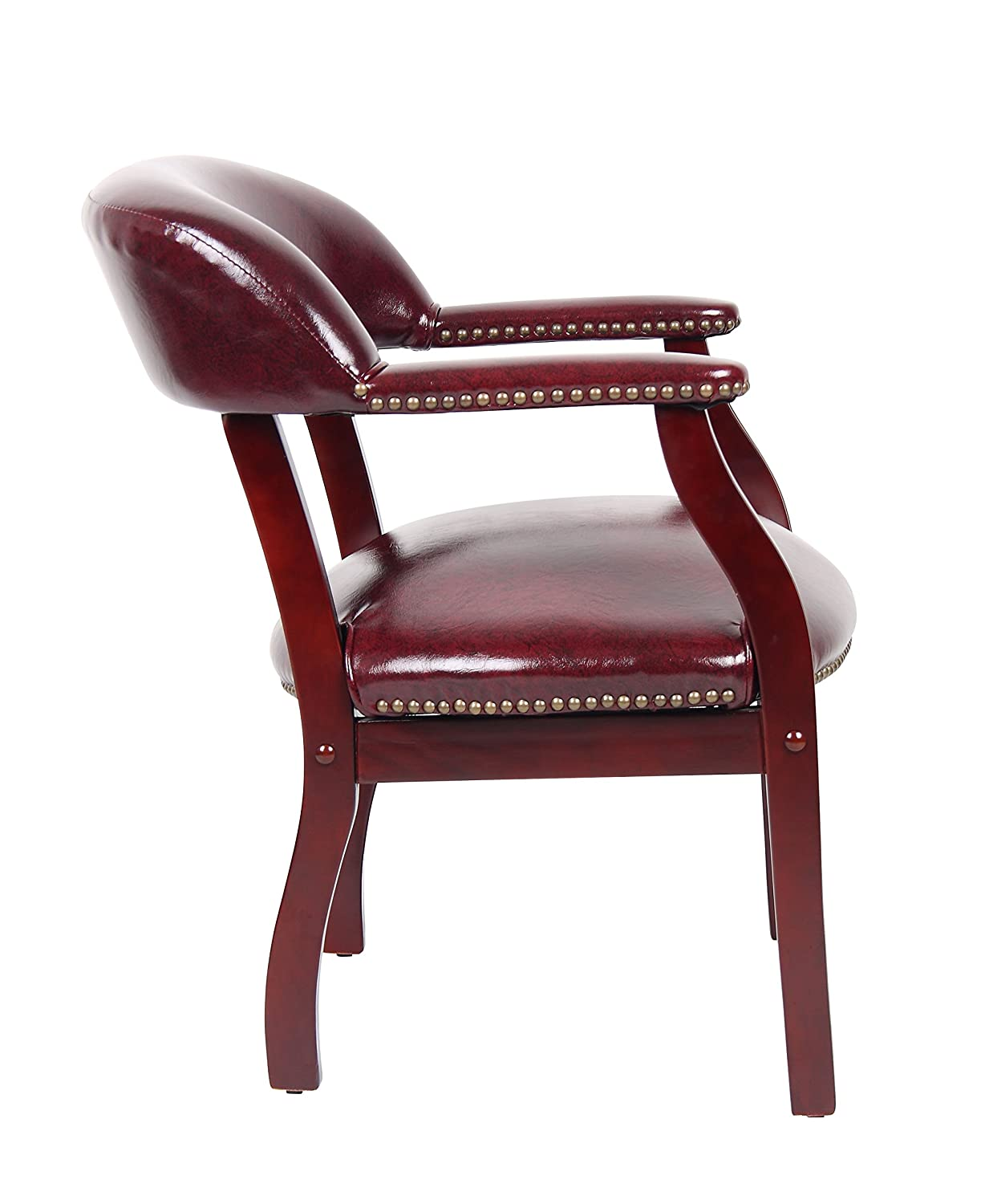 Amazon Boss Captains Chair In Burgundy Vinyl Kitchen Dining