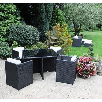 Charles Bentley jardín de mimbre de ratán de 5 piezas Cubo de ...