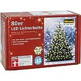 Idena LED Lichterkette 80er, ca. 16 m, für innen/außen, warm-weiß
