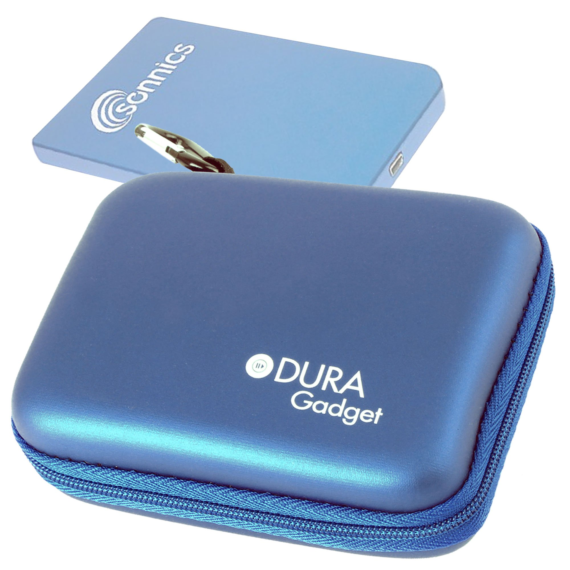 DURAGADGET Sturdy Solid Shock and Water Resistant Blue Case - Suitable for The Sonnics 750GB 2.5 Inch External Pocket Sized USB Hard Drive (Black, Blue, Silver, Pink)