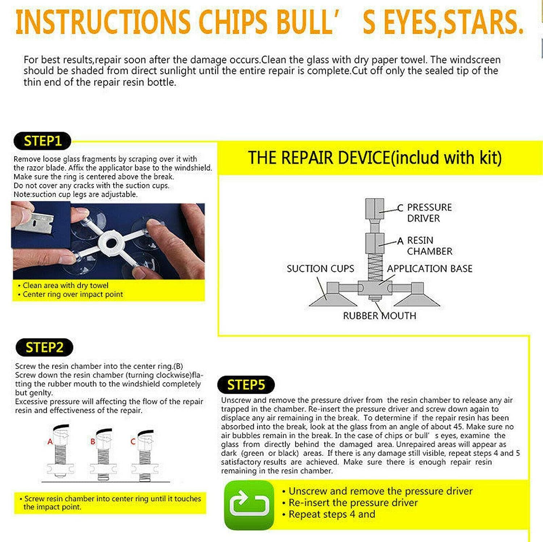 MASO Kit de r/éparation pour Pare-Brise