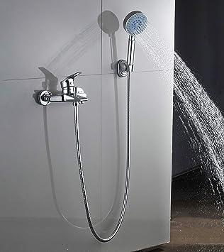 Beliebt Auralum Badewannenarmatur mit Handbrause | Mischbatterie für EO46