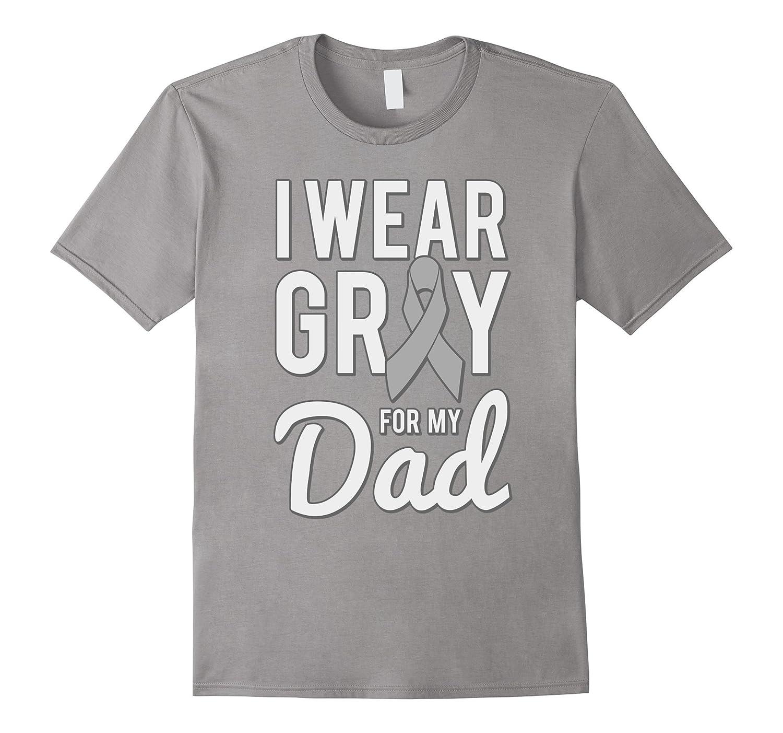 I Wear Grey For My Dad Brain Cancer Awareness T-Shirt-Vaci