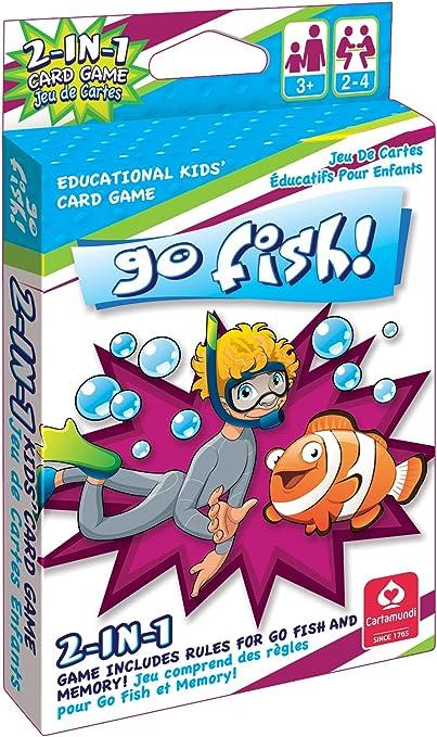 Amazon Com Cartamundi 1430 2 In 1 Card Game Go Fish Memory By