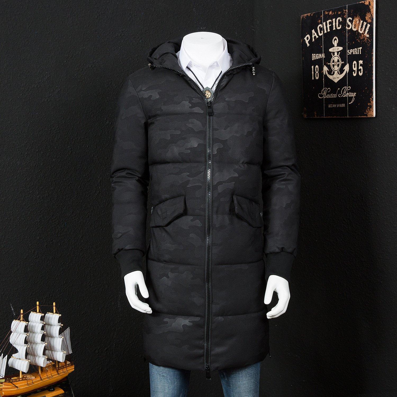 ZHUDJ Männer, Baumwolle_Winter Männer, Baumwolle Camouflage Hooded Long Baumwolle Gepolsterte Kleidung