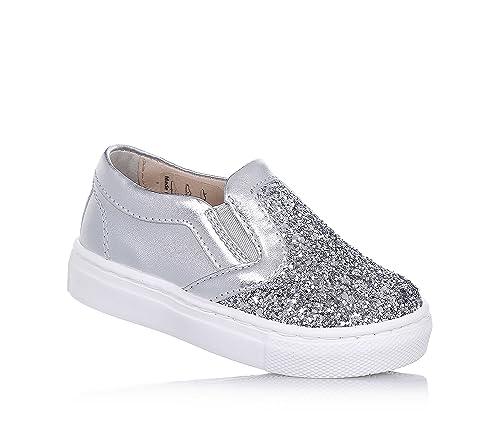 FLORENS - Mocasines para Niña Plateado Size: 20: Amazon.es: Zapatos y complementos