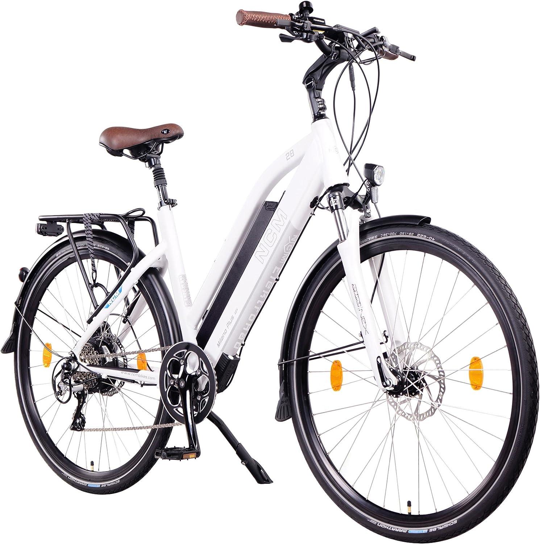 NCM Milano Plus Bicicleta eléctrica de Trekking, 250W, Batería 48V 14 Ah/16Ah • 672Wh/768Wh