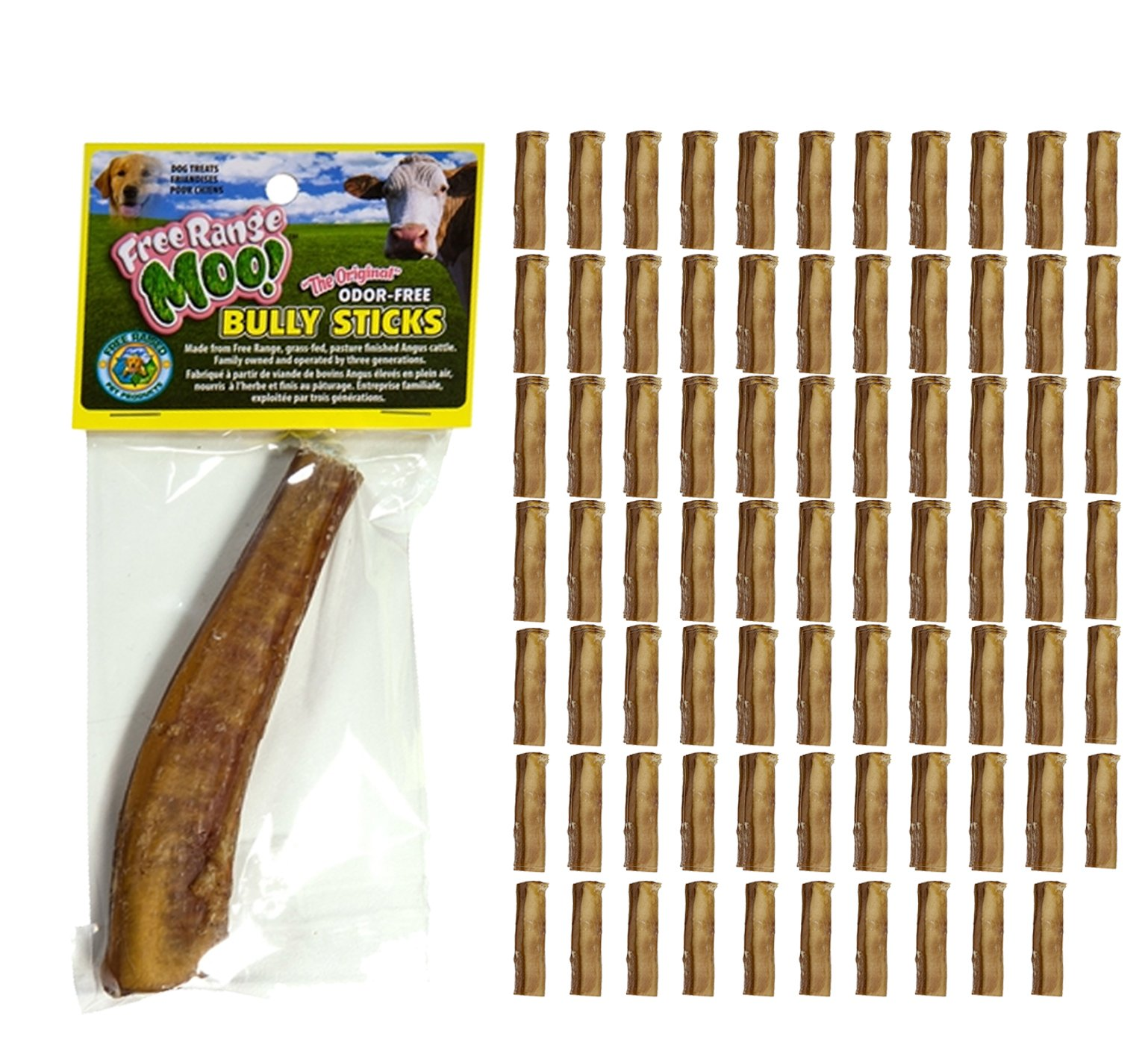 Free Raised Pet Products, 5-6 inch Monster Bully Sticks, 80 Pack by Free Range Monster Bully Sticks