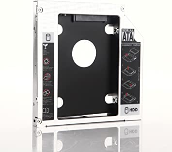 New 2nd Hard Drive HDD SSD Caddy for HP Pavilion G4 G6 G7 replace UJ8B1 DS-8A5LH
