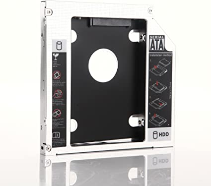 2nd SATA Hard Drive HDD SSD Caddy Adapter for HP Pavilion 17 17-f100nm 17-1076nf