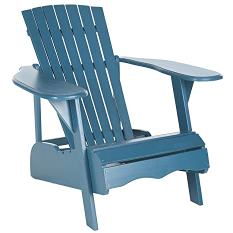 Groovy Safavieh Outdoor Collection Mopani Adirondack Chair Teal Gmtry Best Dining Table And Chair Ideas Images Gmtryco