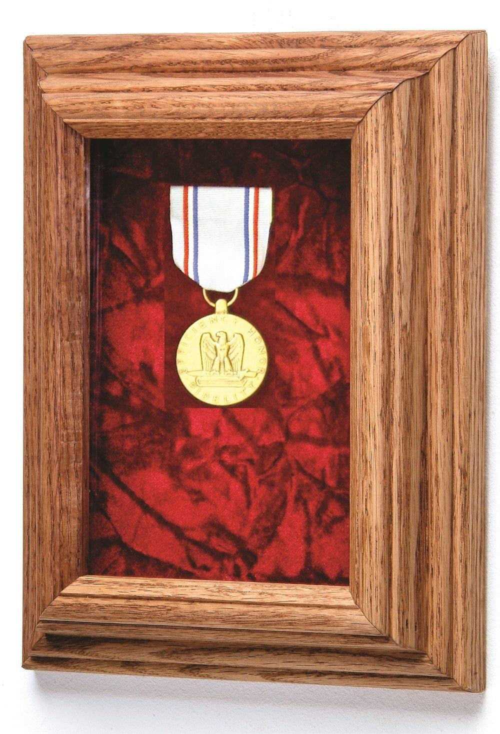 Single Medal Award Case (Blue Velvet) - Other velvet colors available by All American Gifts