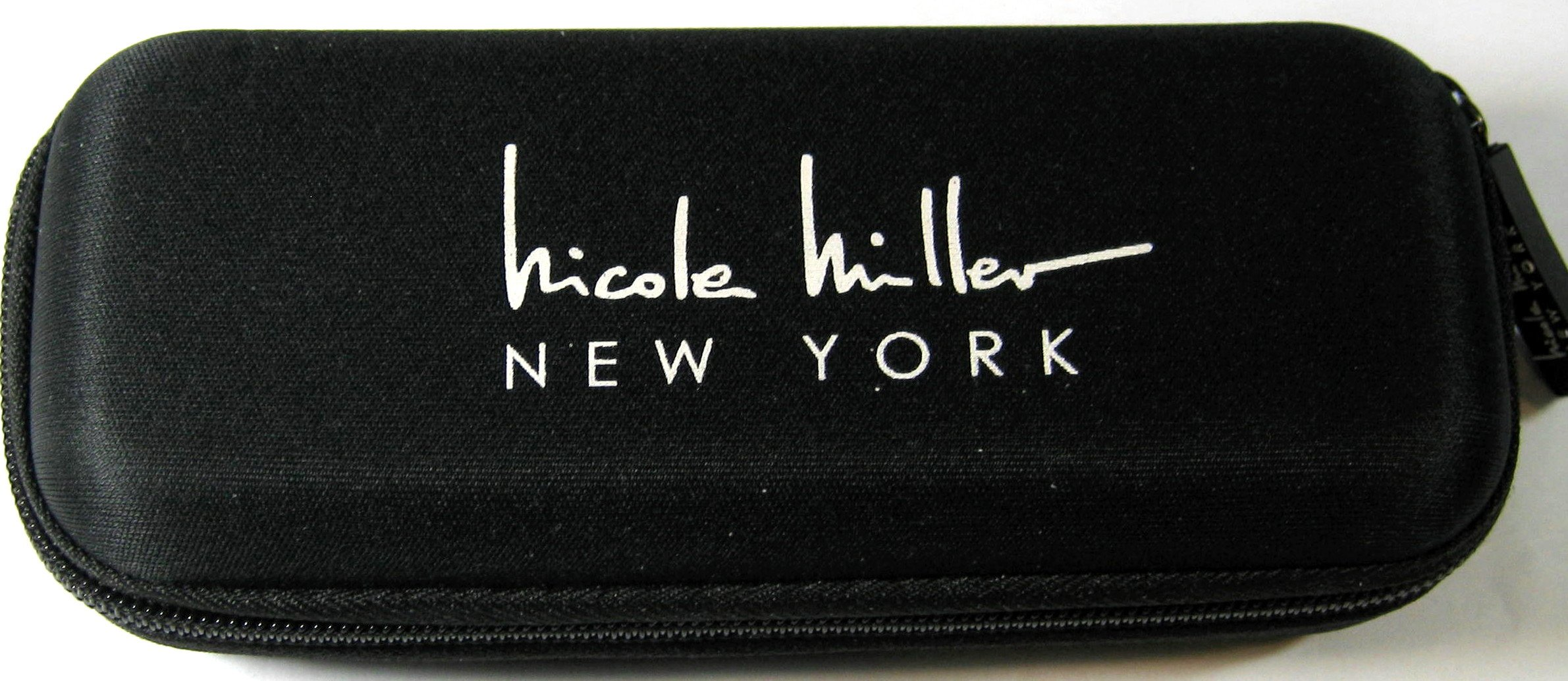 Nicole Miller 42 Inch Micro Mini Umbrella with Hard Eyeglass Carrying Case Black