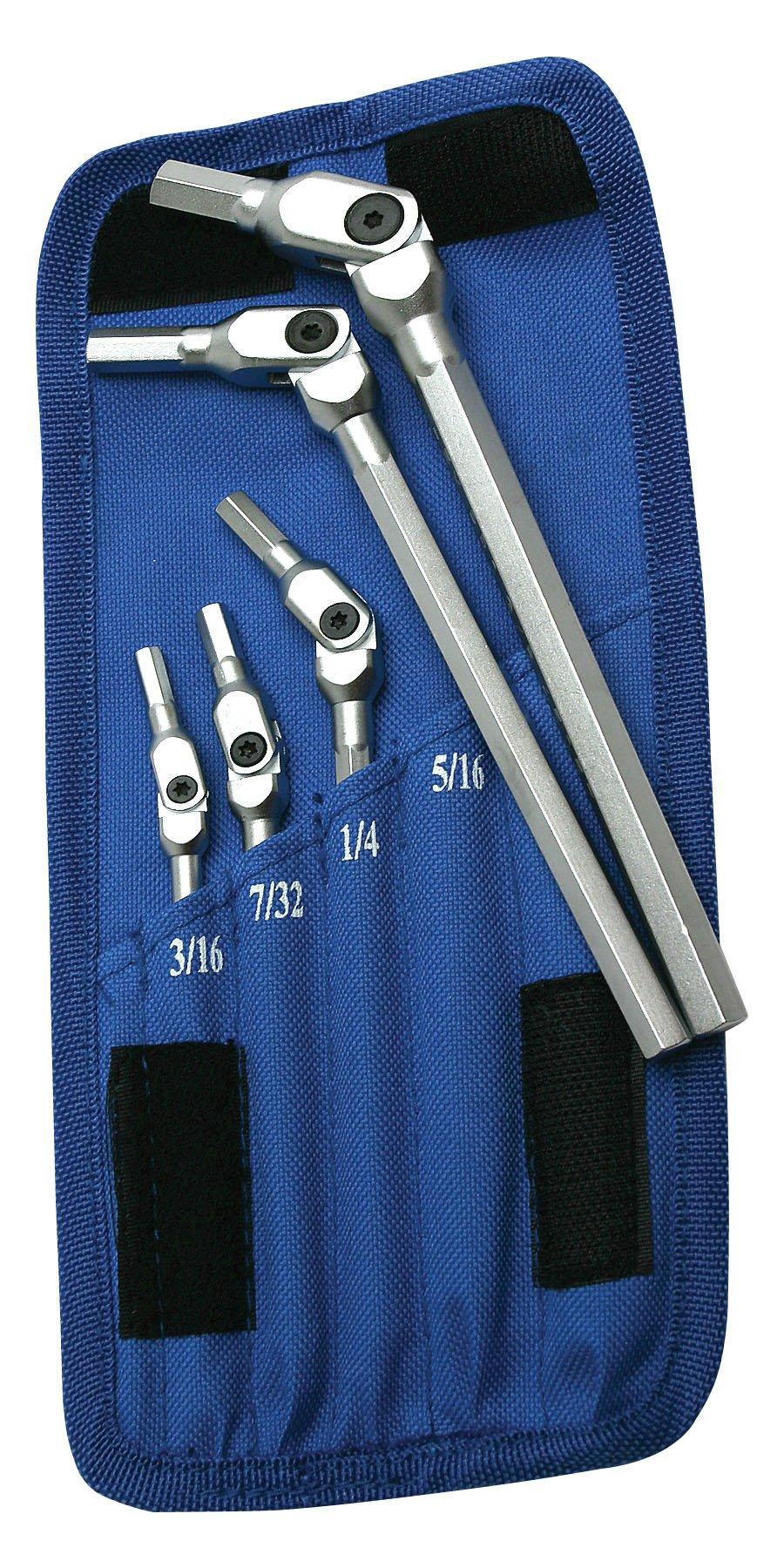 Motion Pro 08-0419 Chrome SAE Hex Wrench Set