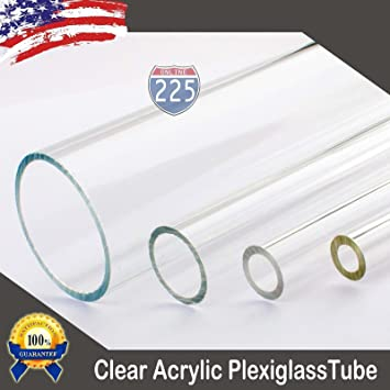 "Acrylic Tube 1"" OD x 3//4/"" ID For DIY, Craft,... 18/"" Long CLEAR"
