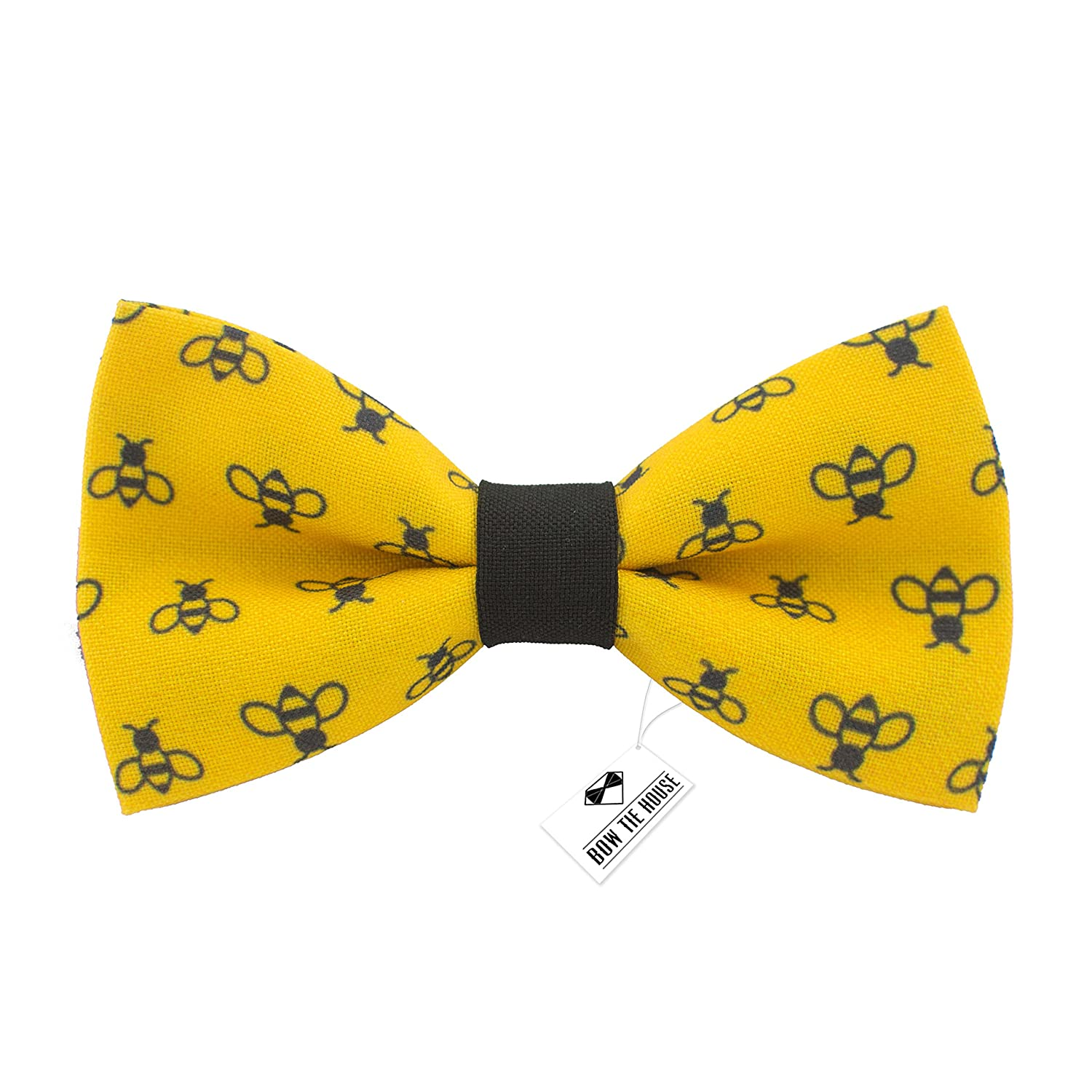 37a9ea7cbaba 100% gabardine. Made in Europe Hand wash only. Emphasize your individuality  and singularity. Handmade bow tie bee pattern. Easy adjustable pre-tied  hand ...