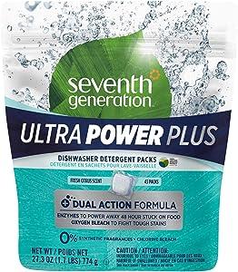 Seventh Generation Dishwasher Detergent Packs, Fresh Citrus Scent, 43 Count