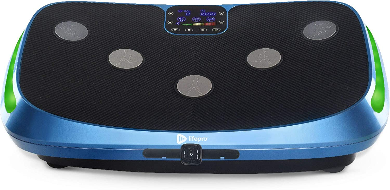 LifePro Rumblex 4D Vibration Plate Exercise Machine - Triple Motor Oscillation, Linear, Pulsation + 3D/4D Vibration Platform - Whole Body Viberation Machine for Home, Weight Loss & Shaping.
