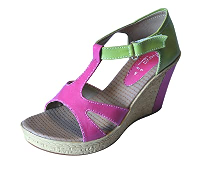 7dfe4f3c8 Ajanta Women s Multicolor Synthetic Wedges (LB0590173001-7) - 7 UK ...