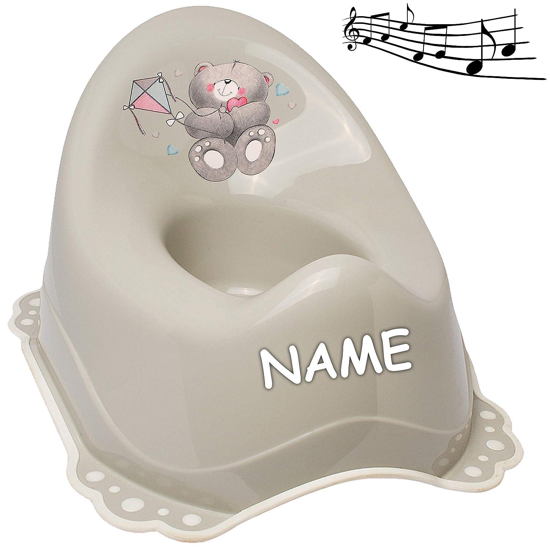 Melody Bieco Teddyb/är T/öpfchen // Nachttopf // Babytopf Name alles-meine.de GmbH Musik /& Sound Anti RUTSCH Spritz.. Teddy /_ inkl hell grau /_ Tiere mit gro/ßer Lehne