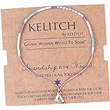 KELITCH Dünn Seil Rocailles Perlen Charme Freundschaft Armband Armbänder
