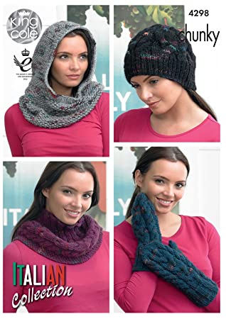 Amazon King Cole Ladies Knitting Pattern Womens Accessories