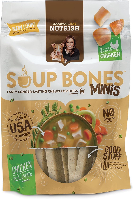 Rachael Ray Nutrish Soup Bones Minis Dog Treats, Real Chicken & Veggies Flavor, 6 Bones, 4.2 Ounces