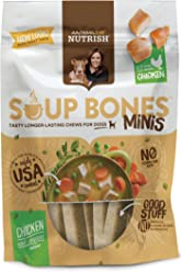Rachael Ray Nutrish Soup Bones Minis Dog Treats, Real Chicken & Veggies Flavor Flavor, 6 Bones, 4.2 oz